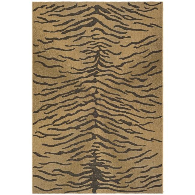 "Safavieh Modern Indoor/Outdoor Gold/Natural Rug (4' x 5'7"")"
