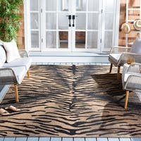 Safavieh Power-Loomed Indoor/Outdoor Gold/Natural Rug - 8' X 11'
