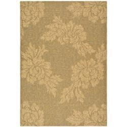 "Safavieh Indoor/Outdoor Gold-and-Natural Rectangular Rug (2'7"" x 5')"