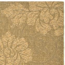 Safavieh Durable Indoor/Outdoor Gold/Natural Rug (8' x 11') - Thumbnail 1
