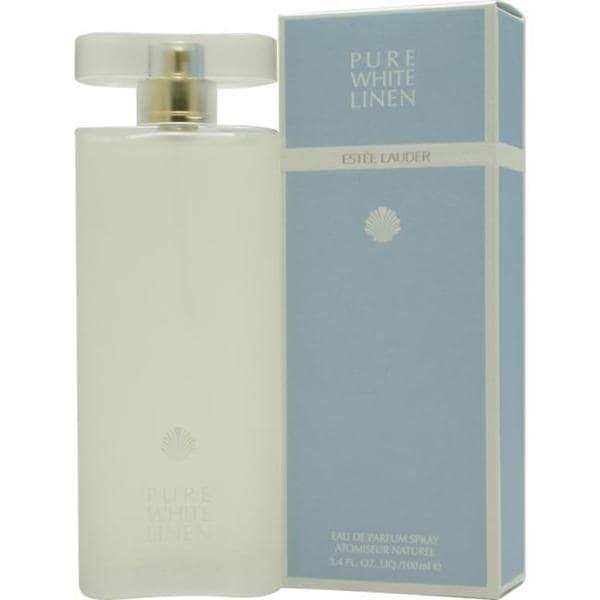 59ab4486ad60 Shop Estee Lauder Pure White Linen Women s 3.4-ounce Eau de Parfum Spray -  Free Shipping Today - Overstock - 5145336