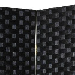 Handmade Woven Fiber Four-Panel Four-Foot Room Divider (China) - Thumbnail 1
