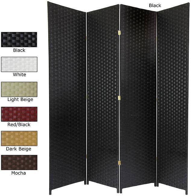 Handmade Woven Fiber 6-panel 7-foot Room Divider (China)