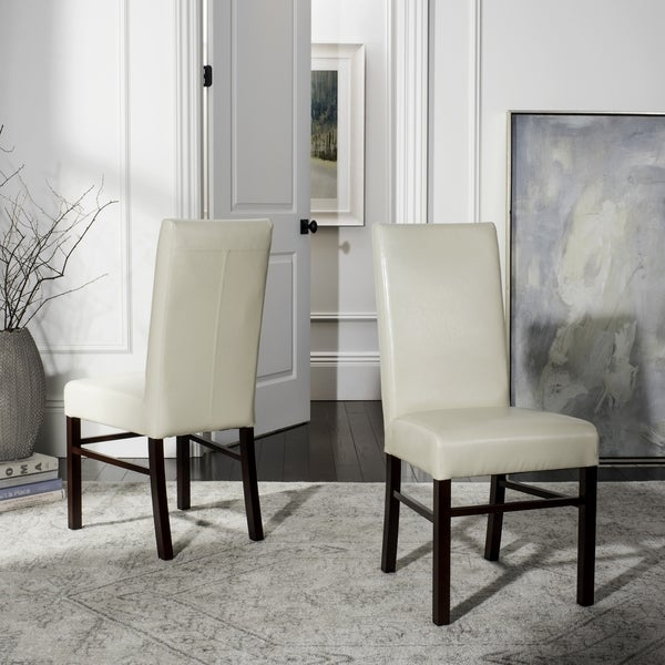 Safavieh Astor Soft Cream Bicast Leather Dining Chairs (Set of 2)