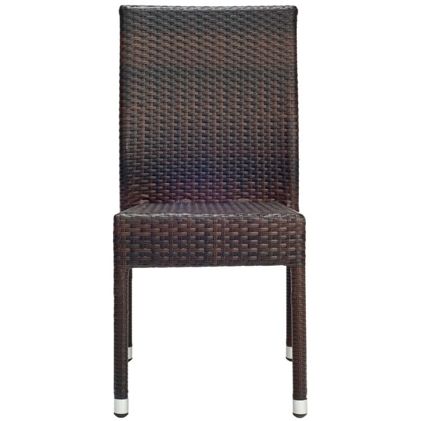 Safavieh Hamptons Bay Wicker Stackable Outdoor Chairs (Set Of 2)   Free  Shipping Today   Overstock.com   12989785