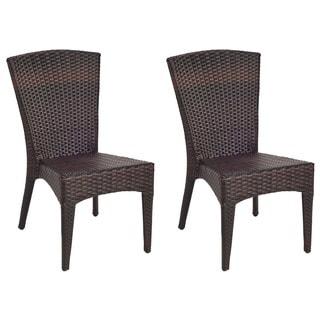 Safavieh Hamptons Shore Wicker Stackable Outdoor Chairs (Set Of 2)