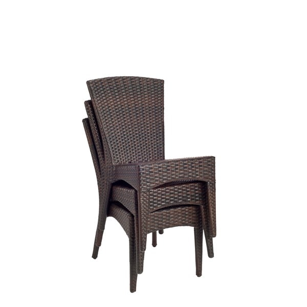 Safavieh Hamptons Shore Wicker Stackable Outdoor Chairs (Set Of 2)   Free  Shipping Today   Overstock.com   12989786