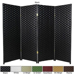 Woven Fiber 4-panel 4-foot Room Divider (China)