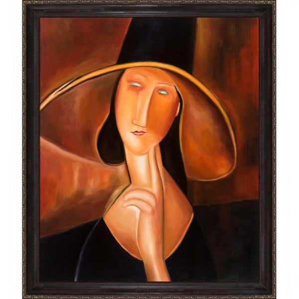 Amedeo Modigliani 'Portrait of Woman in Hat' Canvas Art