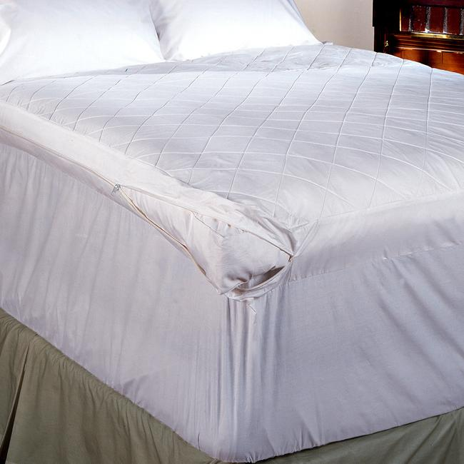Quilted 5-inch Featherbed Cover with 18-inch Skirt