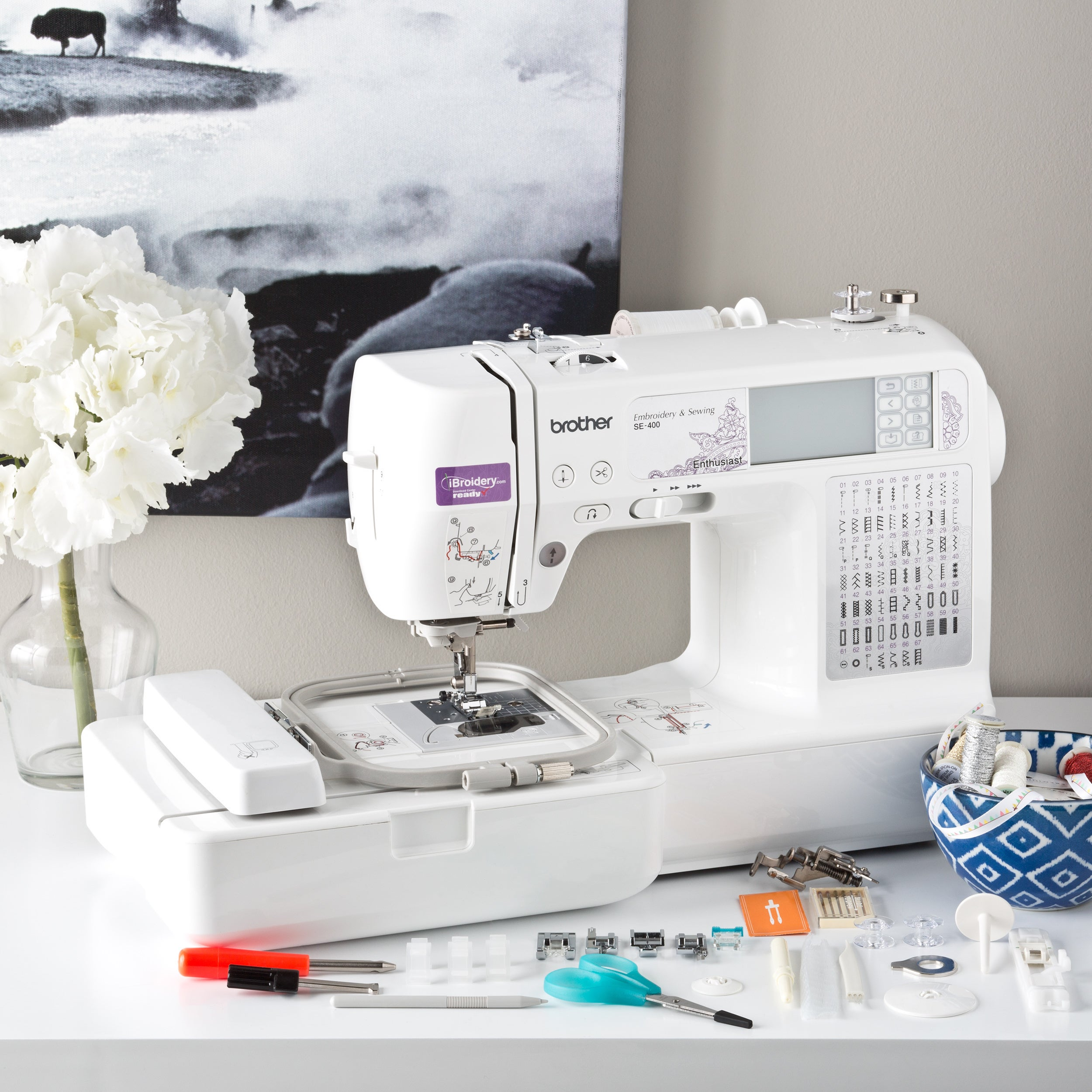 Brother SE400 Computerized Embroidery and Sewing M