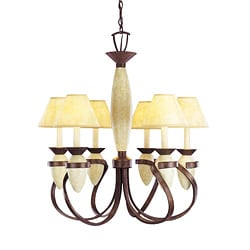6-light Crackle BronzeChandelier