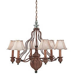 Greenwich 6-light Scallop Chandelier