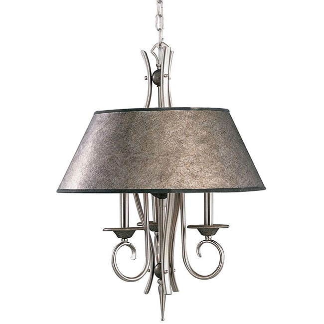 light Tuscan Gold/ Pewter Pendant - Free Shipping Today - Overstock ...