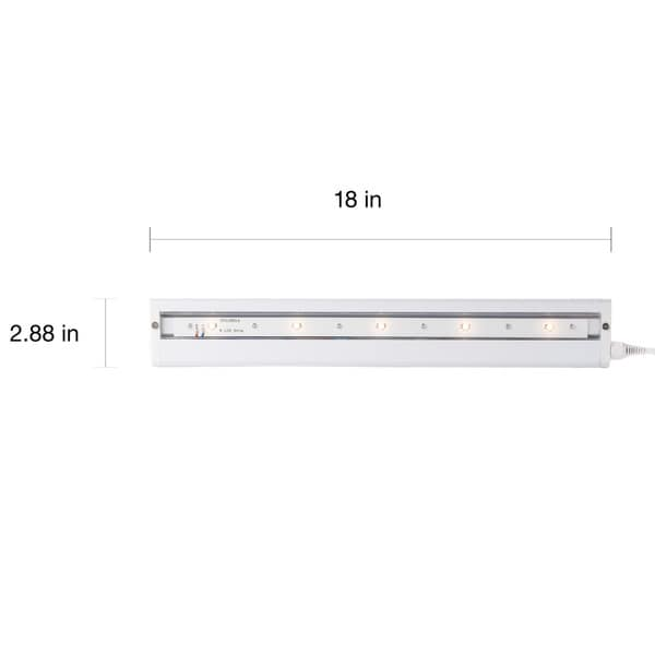 White LED 18-inch Under-Cabinet Light - Free Shipping On Orders ...