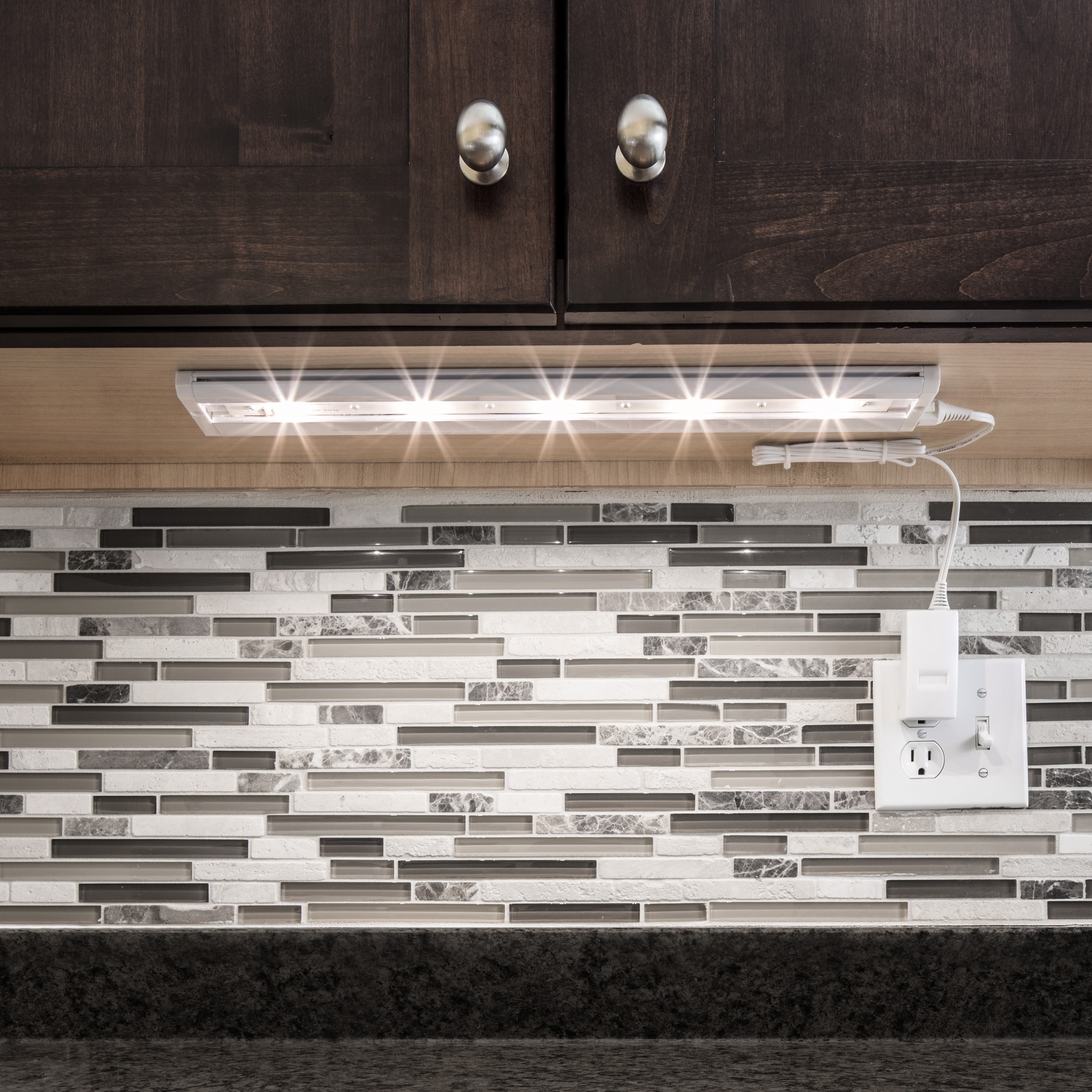 Commercial Electric 18 in LED Bronze Direct Wire Under Cabinet Light