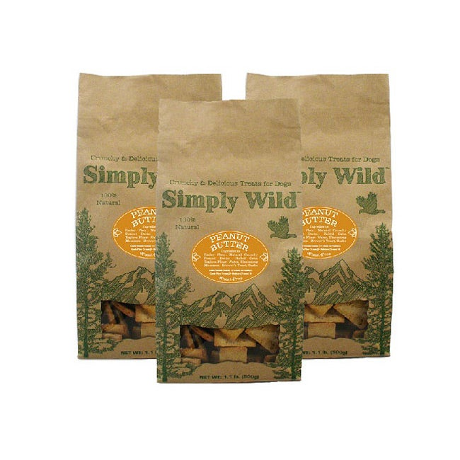 Simply Wild 1-lbs Peanut Butter Dog Treats (Pack of 3)