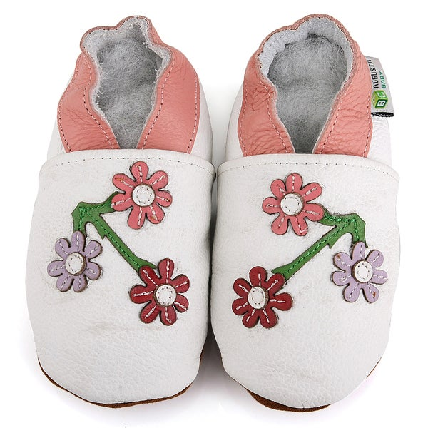 Cherry Blossom Soft Sole Leather Girl's Shoes