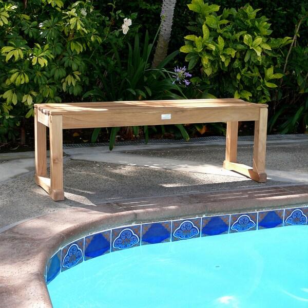 premium plantation teak backless bench - Teak Bench