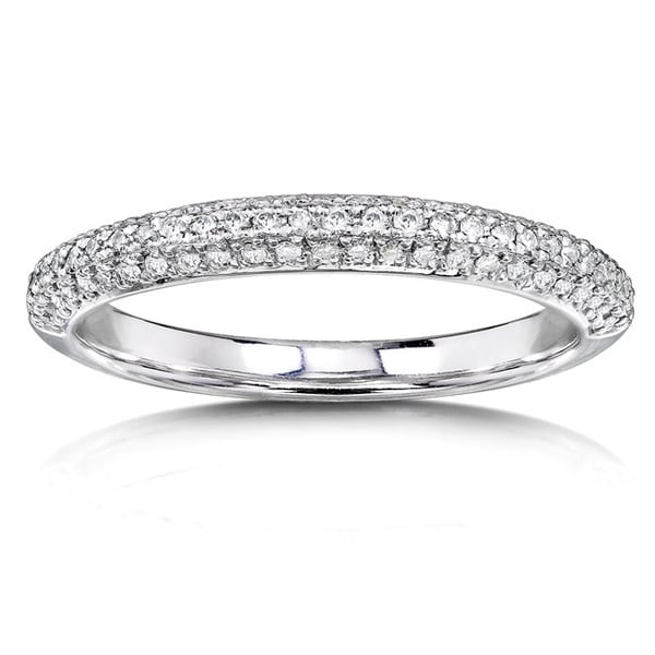 Annello by Kobelli 14k White Gold 1/4ct TDW Diamond Wedding Band