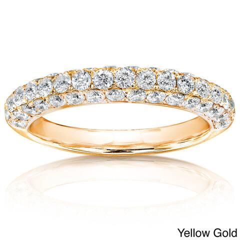 Annello by Kobelli 14k Gold 1ct TDW Diamond Wedding Band