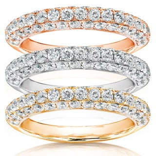 Annello 14k Gold 1ct TDW Diamond Wedding Band (H-I, I1-I2)