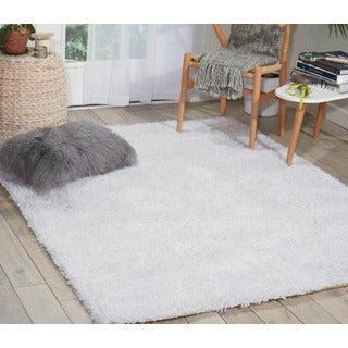 Nourison Splendor White Shag Area Rug (5' x 7')