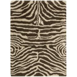 Nourison Splendor Ivory/Brown Shag Area Rug (2'3 x 3'9)