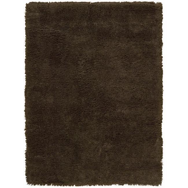 Nourison Splendor Chocolate Shag Area Rug (5' x 7')