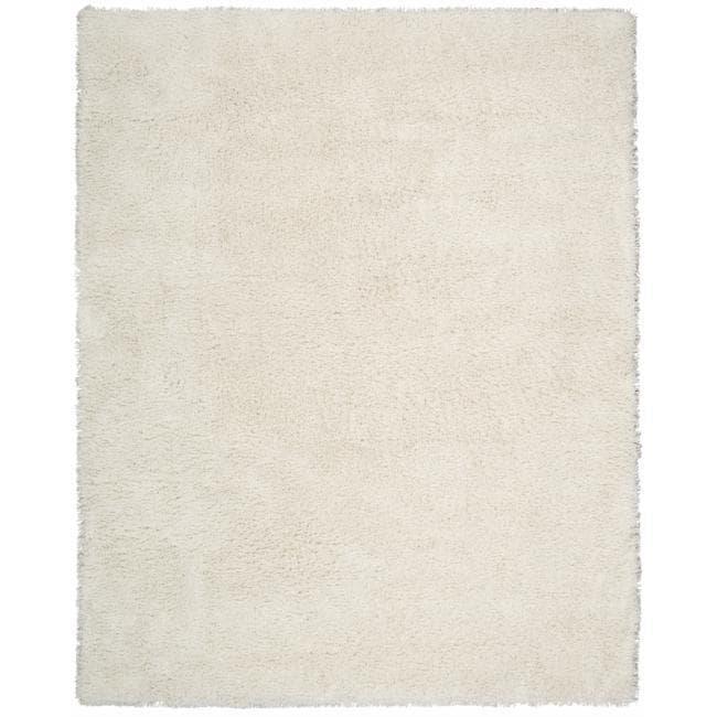 Nourison Splendor White Shag Area Rug - 2'3 x 3'9