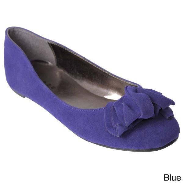 Glaze by Adi Women's Ruffle Toe Ballet Flats