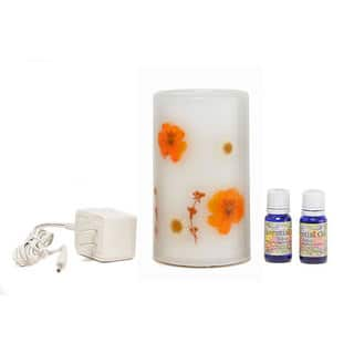 CandleTek Marigold Aroma Therapy Flameless Candle|https://ak1.ostkcdn.com/images/products/5149591/P12992820.jpg?impolicy=medium
