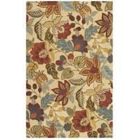 Safavieh Handmade Jardin Foliage Beige/ Multi Wool Rug - 5' x 8'