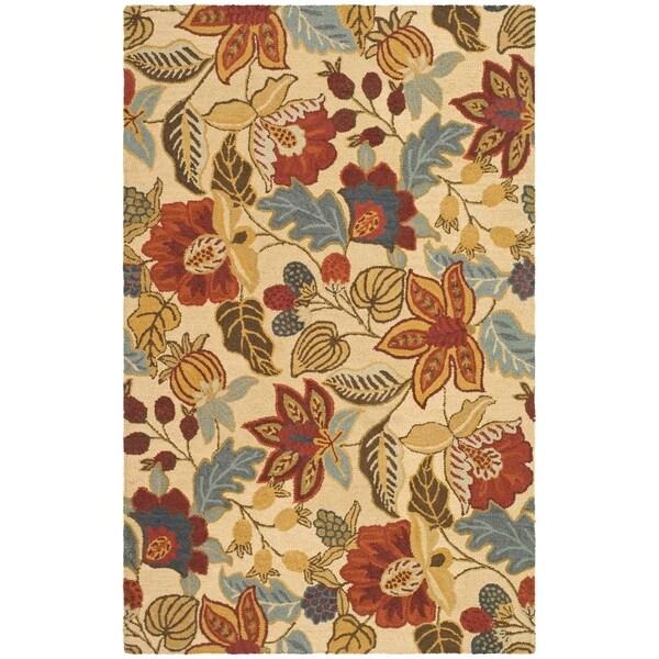 Safavieh Handmade Jardin Foliage Beige/ Multi Wool Rug - 8' x 10'
