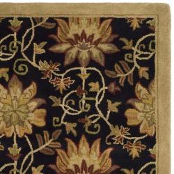 Safavieh Handmade Jardine Chocolate/ Beige Wool Rug (5' x 8') - Thumbnail 1