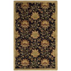 Safavieh Handmade Jardine Chocolate/ Beige Wool Rug - 5' x 8' - Thumbnail 0