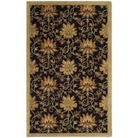 Safavieh Handmade Jardine Chocolate/ Beige Wool Rug - 5' x 8'
