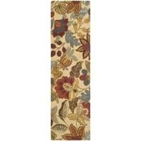 Safavieh Handmade Jardin Foliage Beige/ Multi Wool Rug - 2'3 x 8'