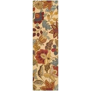 """Safavieh Handmade Jardin Foliage Beige/ Multi Wool Rug - 2'3"""" x 8'"""