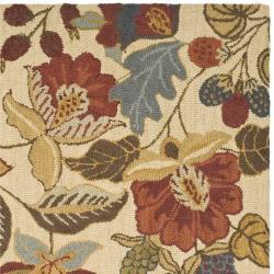 Safavieh Handmade Jardine Foliage Beige/ Multi Wool Rug (6' x 6') - Thumbnail 1