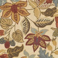 Safavieh Handmade Jardine Foliage Beige/ Multi Wool Rug (6' x 6') - Thumbnail 2