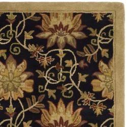 Safavieh Handmade Jardine Chocolate/ Beige Wool Rug (8' x 10') - Thumbnail 1