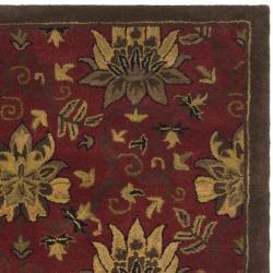 Safavieh Handmade Jardine Red/ Multi Wool Rug (5' x 8')