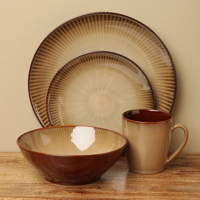 Sango Focus Brown 16-piece Dinnerware Set