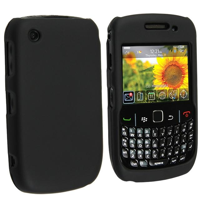 Black Snap-On Case for Blackberry Curve 8520