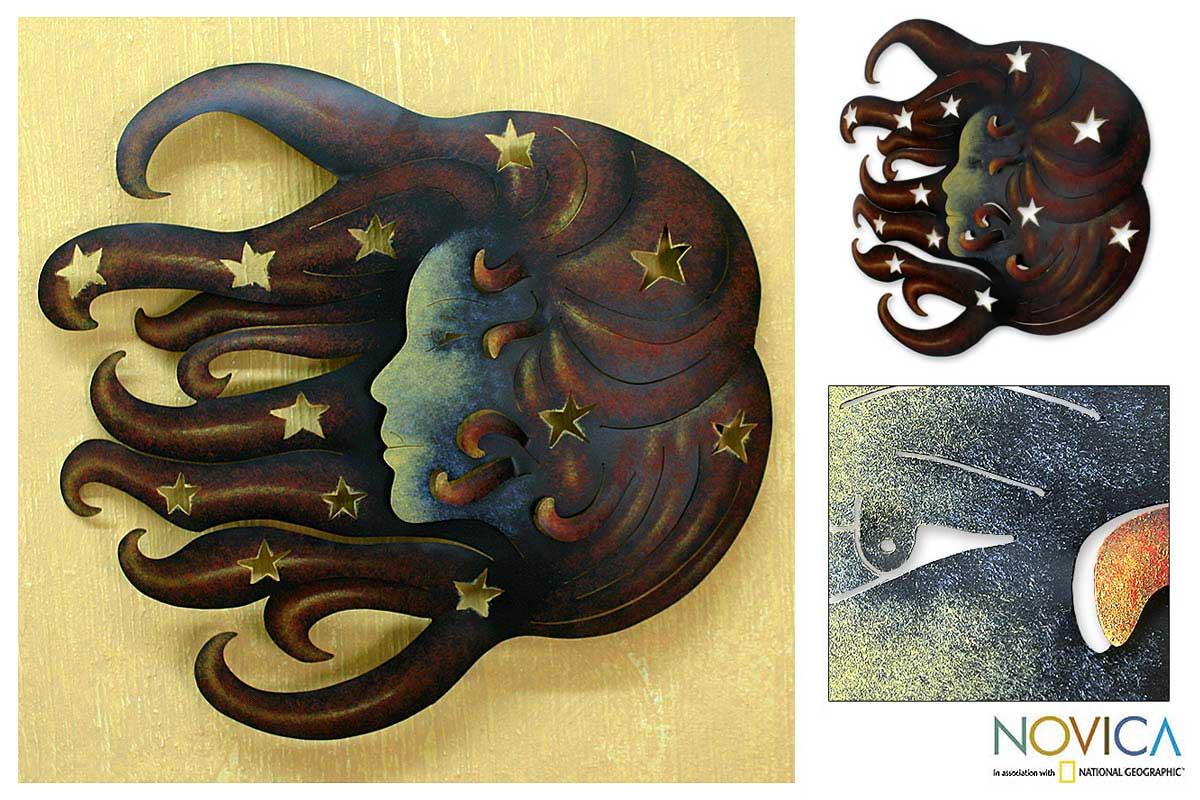 Steel 'Nocturnal Sonata' Wall Art (Mexico)
