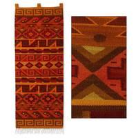 Handmade Wool 'Inca Warmth' Tapestry (Peru)