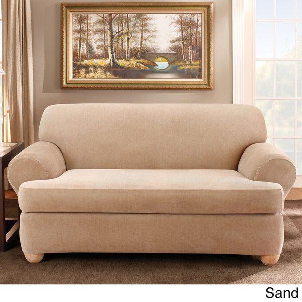 Sure Fit Stretch Stripe 2piece Tcushion Sofa Slipcover Free