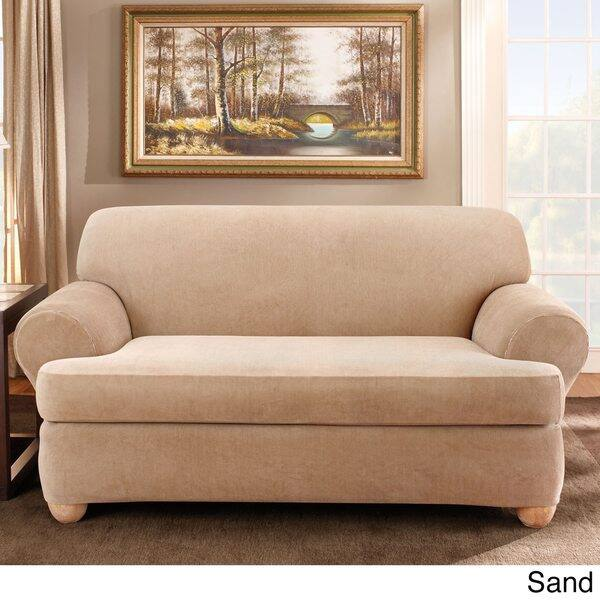 Shop Sure Fit Stretch Stripe 2-piece T-cushion Sofa ...