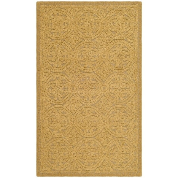 Safavieh Handmade Moroccan Cambridge Gold Wool Rug - 3' x 5'